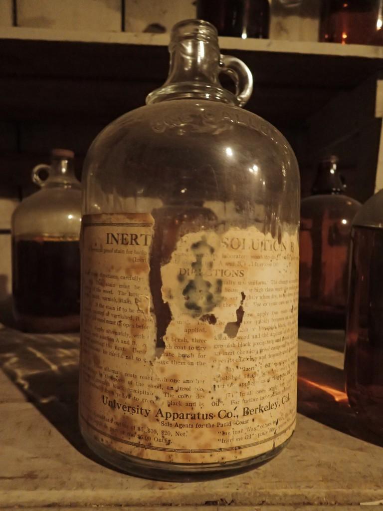 Bottle with unreadable label. 14 November 2015 © Allison J. Gong