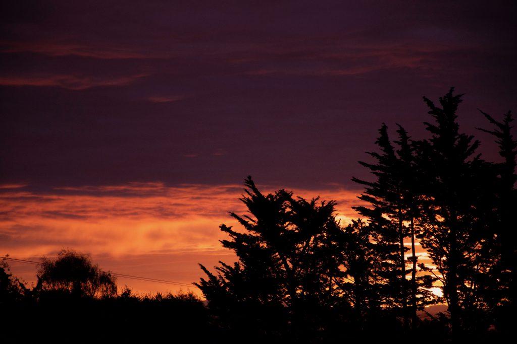 Sunrise in Santa Cruz 25 October 2016 © Allison J. Gong