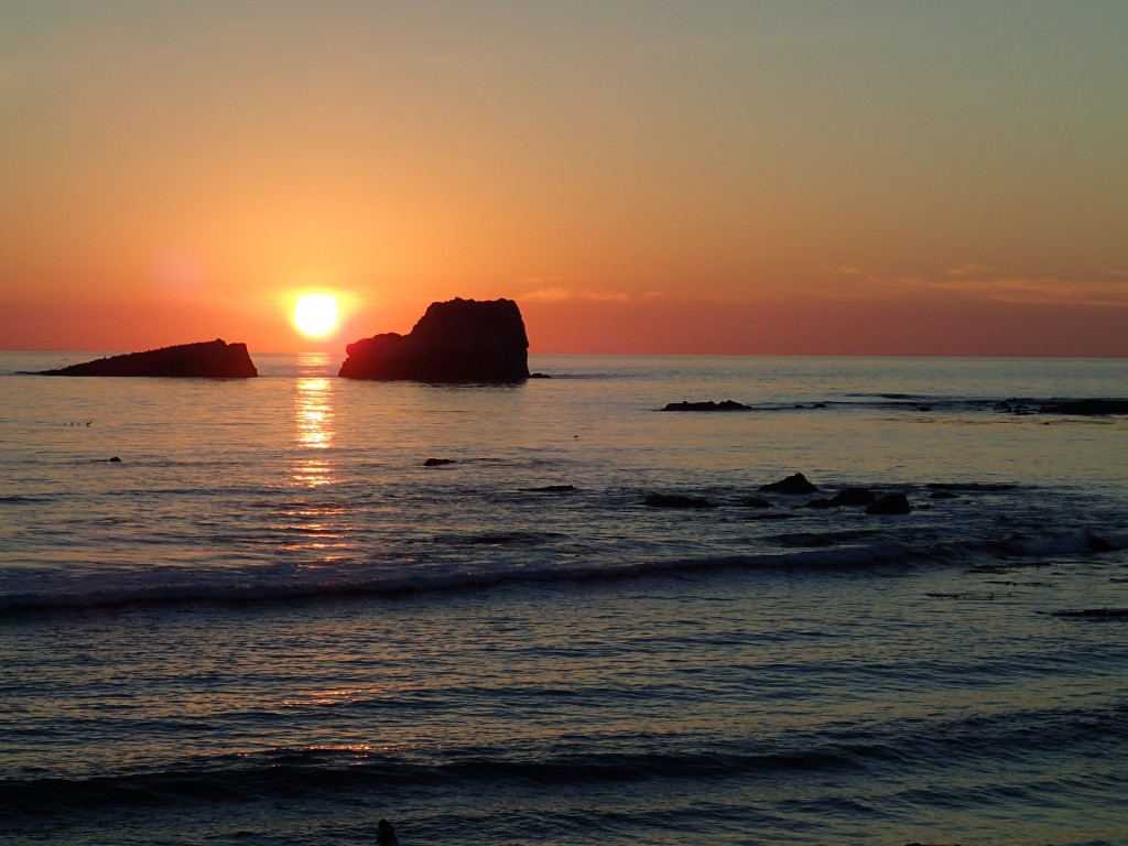 Sunset at Piedras Blancas, 3 January 2015.  Photo credit:  Allison J. Gong