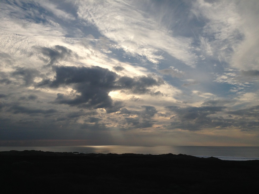 Afternoon sky over Franklin Point, taken from Highway 1. 1 January 2015 © Allison J. Gong