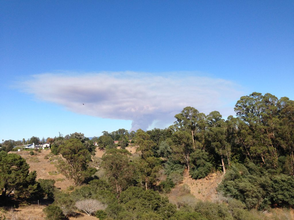 Smoke plume from the Loma Fire at 15:52. 26 September 2016