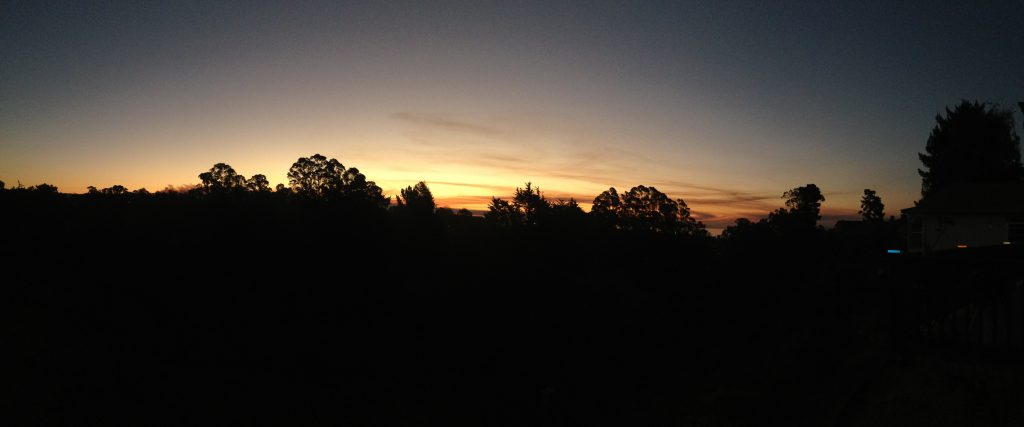 A smoky sunrise, courtesy of the Loma Fire. 27 September 2016 © Allison J. Gong