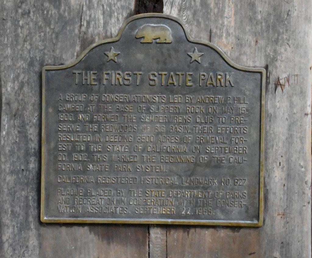 Big Basin sign