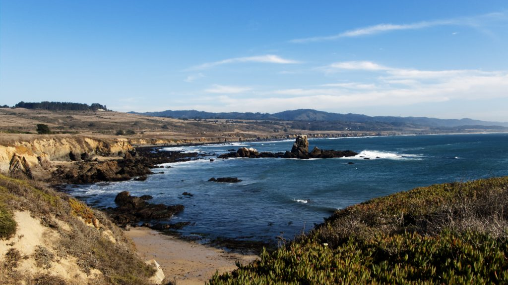 Photo of Whaler's Cove just south of Pigeon Point, during an autumn afternoon low tide